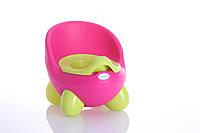 Детский горшок Кью Кью, розово-зеленый Babyhood, фото 1