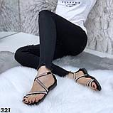 Женские босоножки силиконовые с камнем бежевые, белые, черные, фото 4