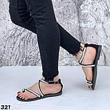 Женские босоножки силиконовые с камнем бежевые, белые, черные, фото 2