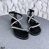 Женские босоножки силиконовые с камнем бежевые, белые, черные, фото 3