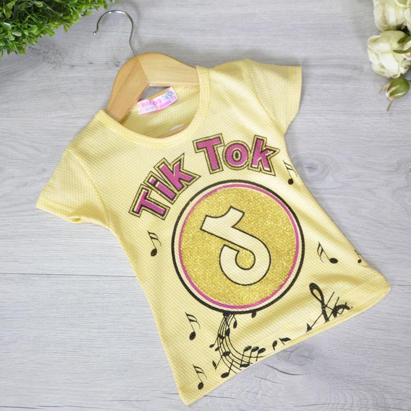 Детская футболка Tik Tok, трикотаж, для девочек 1-6 лет (6 ед. в уп)
