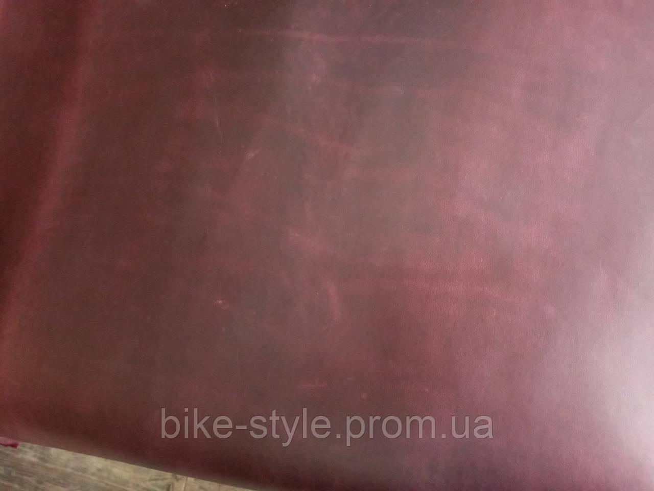 Натуральная кожа Crazy Horse 1.6-1.8 Бордовая