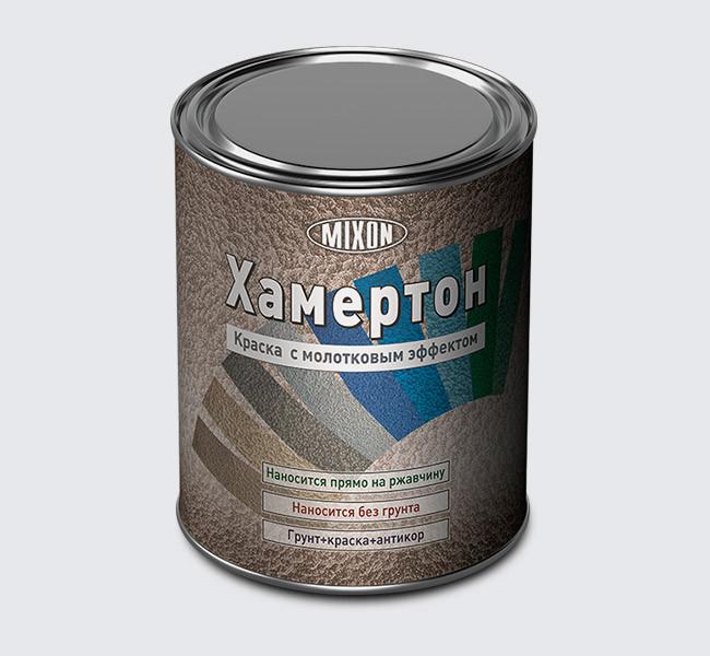 Антикоррозийная молотковая краска коричневая Хамертон №609 0,75л - Интернет магазин Авто-S в Краматорске