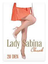 Женские капроновые колготки 20 ден Lady Sabina с лайкрой