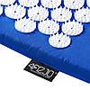 Коврик акупунктурный с валиком 4FIZJO Аппликатор Кузнецова 72 x 42 см 4FJ0023 Blue для дома и спортзала, фото 2