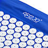 Коврик акупунктурный с валиком 4FIZJO Аппликатор Кузнецова 72 x 42 см 4FJ0023 Blue для дома и спортзала, фото 4
