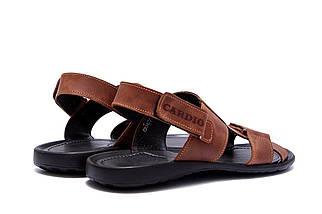 Мужские кожаные сандалии в стиле CARDIO Brown ПК-320р Card, фото 2
