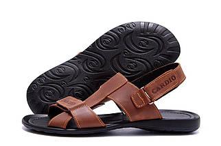 Мужские кожаные сандалии в стиле CARDIO Brown ПК-320р Card, фото 3