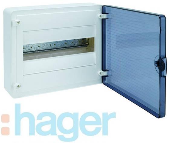 Щит GOLF 12-модулей с прозрачными дверями VS112TD (накладной), фото 2