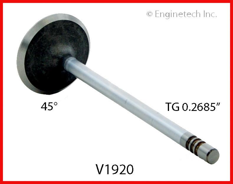 Клапан впускной ENGINETECH V1920 Chysler 300 300C Dodge Magnum Charger Avenger