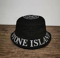 Мужская панама лето Stone Island черная Турция. Много других брендов, фото 1