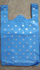 Пакет полиэтиленовый майка 300*500 мм Горох