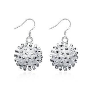 """Жіночі сережки кульки """"Колючки"""" покриття срібло, фото 2"""