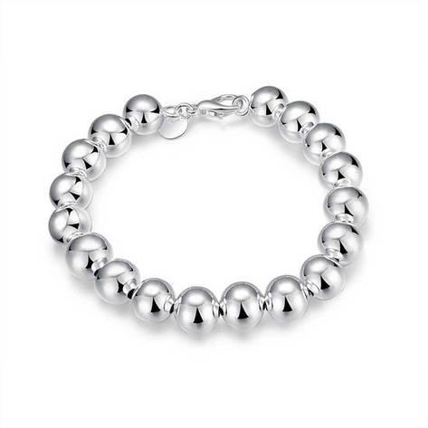 """Женский браслет """"Зеркальные шары"""" покрытие серебро, фото 2"""