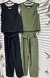 Стильный летний льняной женский костюм. Женская одежда., фото 2