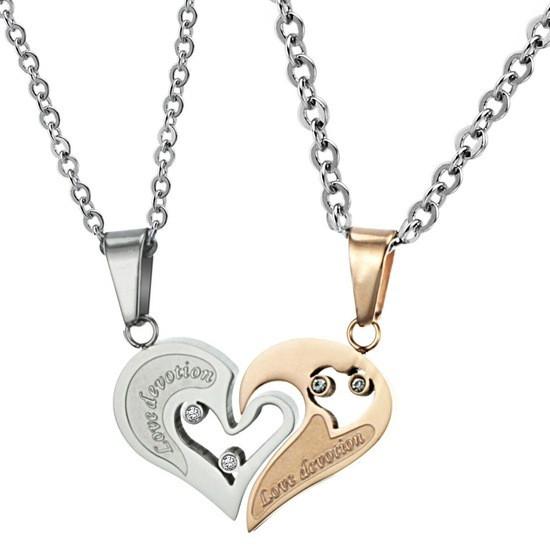 """Парные кулоны образующее сердце """"Хранители Единства"""" цепочки для влюбленных"""