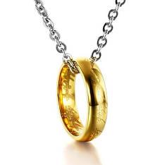 """Колье кольцо Всевластия на цепочке из фильма """"Властелин колец"""" карбид вольфрама покрытие золото"""