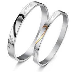 Парні браслети для двох закоханих медична сталь гравірування real love (справжня любов)