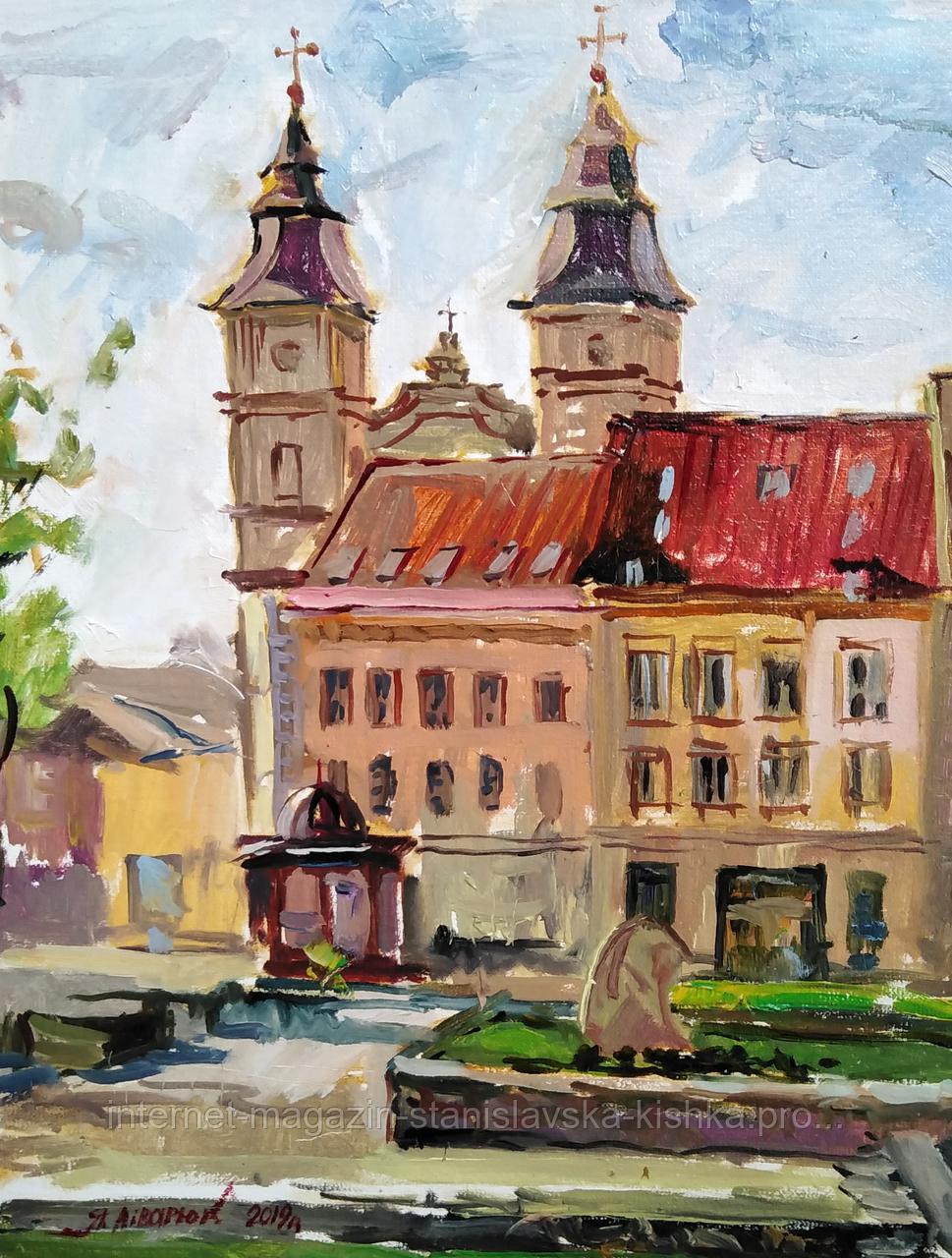 """Картина """"Вид на Собор св.Юрія"""" 38*46 полотно олія"""