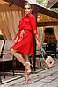 Червона сукня-сорочка з воланом 44,46,48 р., фото 3