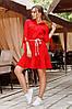 Червона сукня-сорочка з воланом 44,46,48 р., фото 2