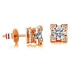 Стилные маленькие женские серьги-гвоздики  пусеты с камнями элитная бижутерия позолота 18К