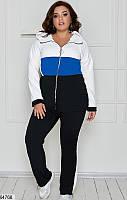 Спортивный костюм трикотажный в большом размере  р. 48, 50, 52, 54, 56, 58, 60, 62, 64