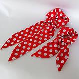 Резинка для волос твилли  Бант с лентами Резинка с повязкой шарфиком, фото 10