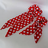 Резинка для волос твилли  Бант с лентами Резинка с повязкой шарфиком, фото 9