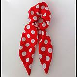Резинка для волос твилли  Бант с лентами Резинка с повязкой шарфиком, фото 6