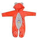 Комбинезон для девочки махровый с вышивкой, фото 4