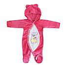 Комбинезон для девочки махровый с вышивкой, фото 3