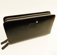 Кожаный мужской клатч, борсетка MВ 3011 черный, фото 1