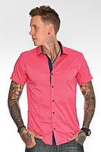 Мужская рубашка 1238001 Малиновая