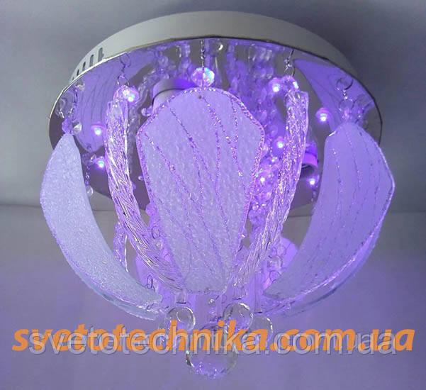 Люстра торт на 3 лампочки с LED подсветкой (7140-300)