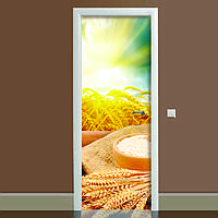 Наклейка на дверь Zatarga Этно 650х2000 мм Желтый Z180089 dv, КОД: 1804524
