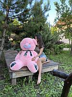 Большой плюшевый мишка, медведь Винни 130 розовый