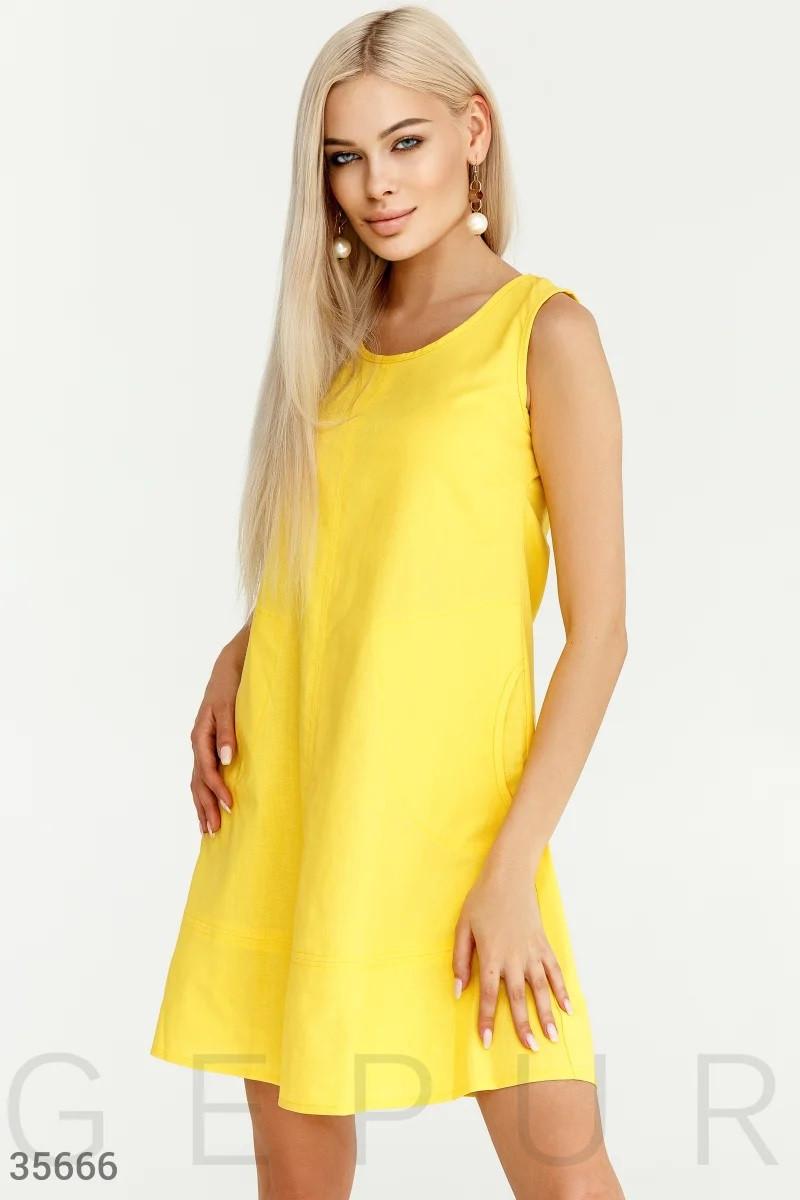 Сукня а-силуету з кишенями S,M,L,XL