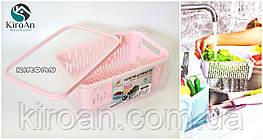 Друшляк з контейнером і кришкою 3,5 л (26*17 висота 11 см) Туреччина код - AK 509 колір-рожевий