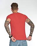 Мужская футболка Fabregas 8015 красная, фото 3