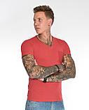 Мужская футболка Fabregas 8015 красная, фото 5