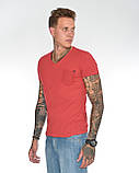 Мужская футболка Fabregas 8015 красная, фото 6