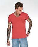 Мужская футболка Fabregas 8015 красная, фото 2
