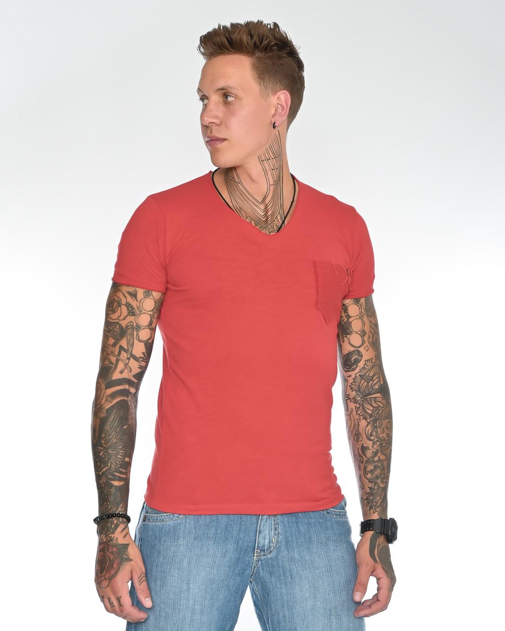Мужская футболка Fabregas 8015 красная