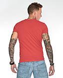 Мужская футболка Fabregas 8015 красная, фото 7