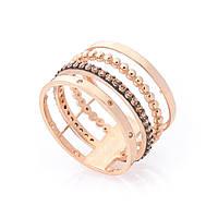 Золотое кольцо G-ONIKS 17 мм с фианитом к05868-3,78-17, КОД: 1741015
