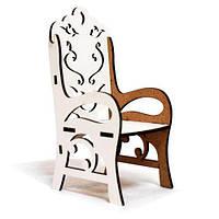 Стул деревянный с подлокотником BigEcoToys Белый TOY-53236, КОД: 1818370
