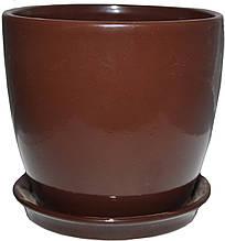 Вазон Зеленая сотка Сонет премиум 10 х 10 см Коричневый 000004557, КОД: 358495