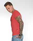 Мужская футболка Fabregas 8015 красная, фото 8