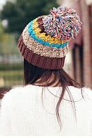 Зимняя женская шапка Разноцветный AL-7983-76, КОД: 1493256